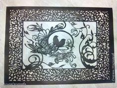 Картина панно рисунок Вырезание Новые вытынанки Бумага фото 1