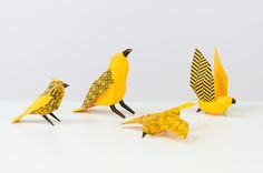 Over 100 paper engineered birds of varying species, colour and fashion patterns. Featuring patterns from local St James Architects. Fashion Patterns, Paper Birds, Art Direction, Architects, Colour, Pure Products, Life, Color, Colors