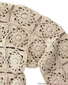 Handmade crocheted sweater Elegant crochet by AlicjaCollection Crochet Bolero Pattern, Crochet Motif, Crochet Designs, Crochet Lace, Crochet Patterns, Crochet Coat, Thread Crochet, Crochet Cardigan, Crochet Clothes