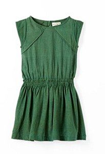 April Showers Green Silk Dress