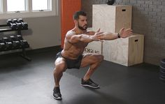 This iso squat challenge will hammer your glutes and quads for as long as you can take it