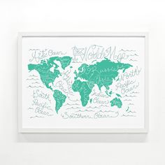 17 Pieces of Map Wall Art to Satisfy Your Wanderlust via Brit + Co.