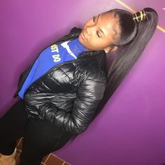 50 Best Black Ponytail Hairstyles IdeasAll images are taken from public sources High Weave Ponytail, Extended Ponytail, Black Ponytail Hairstyles, Sleek Ponytail, Baddie Hairstyles, Black Girls Hairstyles, African Hairstyles, Weave Hairstyles, Hairstyles Pictures