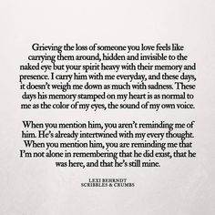 """""""When you mention him, you aren't reminding me of him. He's already intertwined with my every thought"""" Scribbles & Crumbs"""
