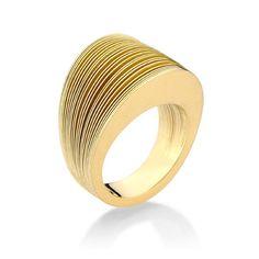 Antonio Bernardo gold ring - Anel Mil Folhas