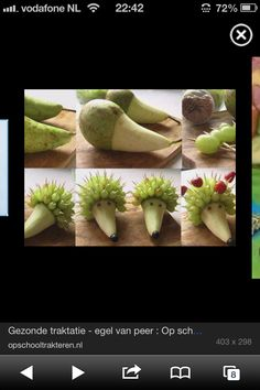 Traktatie Cooking With Kids, Fun Cooking, Vegetable Decoration, Food Trays, Party Buffet, Specialty Foods, Birthday Treats, Fruit Snacks, Food Humor