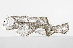 Harry Bertoia wire sculpture.