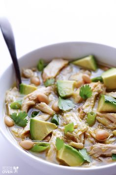 5 Ingredient White Chicken Chili Recipe | Quick, easy, and crazy good! gimmesomeoven.com