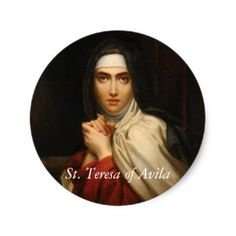 DesignPicker slideshow: St. Teresa of Avila SAMPLER at Saints_Aplenty on Zazzle -- The popular Spanish mystic has been the subject of many artworks by traditional and modern artists alike.  See how our fellow Zazzlers have featured her on products ranging from stickers to pinback buttons to posters in this short slideshow presentation.  #PatronSaints #StTeresaOfAvila #StTeresa #Avila #ReligiousGifts