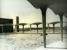 Miguel Fisac: brilliant and visionary AND the co-founder of Opus Dei. Conceptual Model Architecture, Contemporary Architecture, Roof Installation, Modern Architects, Roof Structure, Religious Architecture, Concept Diagram, Retro Futuristic, Japanese House
