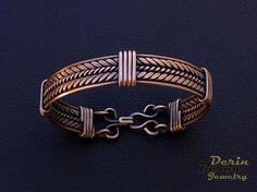 Free Shipping Men copper cuff braceletCopper by BernaDerinJewelry