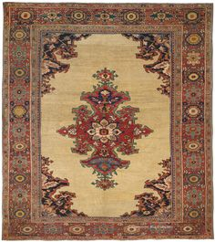 SULTANABAD, West Central Persian 9ft 5in x 10ft 6in Circa 1900