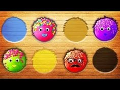 Puzzle with Colorful Cake Pop Colors Learn Animation Education for Kids