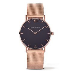 Paul Hewitt Sailor Line Watch - Rosegold & Blue Lagoon