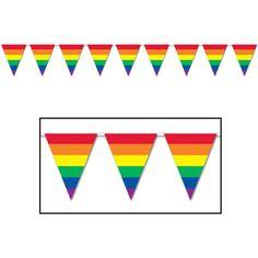 "Beistle 10"" X 12' Pennant Banner / Rainbow (57721)"