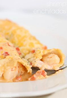 Easy cheesy shrimp enchiladas recipe