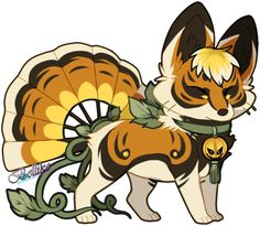 Pumpkin Foxfan for Kawiku by Belliko-art.deviantart.com on @DeviantArt