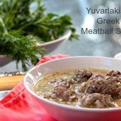 Yuvarlakia - Greek Meatball Soup www.zagleft.com