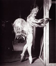 Tatiana Riabouchinska in costume designed for the Balles Russes production of Le Coq D'Or, ca. 1932.