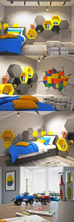 Baby Decor Room Boy Quartos 29 Ideas For 2019 Boys Room Design, Kids Bedroom Designs, Study Table Designs, Lego Room, Baby Boy Rooms, Baby Room Decor, Kid Beds, Girls Bedroom, Kids Room