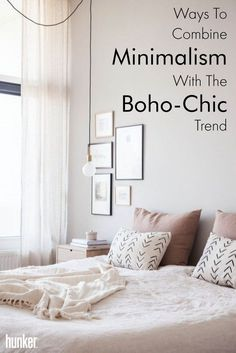 Maybe you are not a complete minimalist, but you like to keep things functional. Add touches of boh-chic to add some extra comfort, color and drama to your otherwise minimal style. Read on to see exactly how to do that!