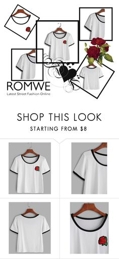 """""""Untitled #72"""" by maida-salanovic ❤ liked on Polyvore featuring white, romwe and ROMWECONTEST"""