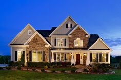 The right outdoor #lighting promotes #curbappeal and invites guests in. Toll Brothers at Fawn Lake, VA