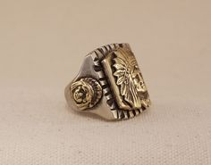 Jewels House Eagle Shape Silver Plated Handmade Vintage Traditional Biker Ring US-11