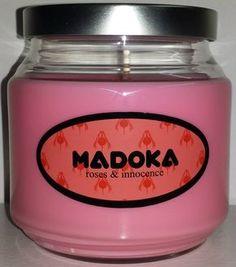 Madoka Kaname inspired candle from the anime Puella Magi Madoka Magica.