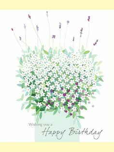Just a Little Note/Lavender - Thank You - Cards Happy Birthday Ecard, Happy Birthday Flower, Happy Birthday Pictures, Happy Birthday Messages, Happy Birthday Quotes, Happy Birthday Greetings, Vintage Birthday Cards, Birthdays, Poster