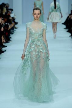 Love this color, it reminds me of the ocean!  Elie Saab Couture Spring 2012