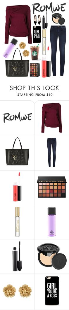 """""""Untitled #12238"""" by ohnadine ❤ liked on Polyvore featuring Tom Ford, Victoria's Secret, 7 For All Mankind, MAC Cosmetics, Sephora Collection, Michael Kors, Kat Von D, Miriam Haskell, Caso and MANGO"""