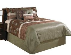 Beco Home Fall Leaves 7-Piece Luxury Comforter Set, King by Beco Home. $139.99. Set includes 1 comforter, 2 shams, 3 decorative pillows and bedskirt. Complete 7-piece set. Machine wash and dry. Pieced faux silk and embroidered fabrics with natural foliage designs creates and elegant and inviting space. Embroidered Faux Dupioni and Organza Comforter and Shams, embellished with satin piecing, leaf motif embroidery and decorative stitching pattern. 3 Coordinating decorative pil...