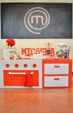 Micaela's Junior MasterChef Themed Party – Dessert spread