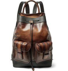Berluti - Horizon Polished and Pebble-Grain Leather Backpack