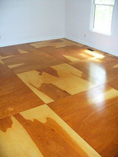 "For a twist, we put in 1/4"" birch plywood flooring."