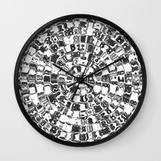 Buy Circle Mosaic Wall Clock by LaurenW Designs. Worldwide shipping available at Society6.com. Just one of millions of high quality products available.