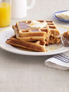 Grate orange into the waffle batter for extra zest. Recipe: Sweet-Potato Waffles   - CountryLiving.com