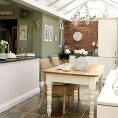 Conservatory Kitchen Tiny Kitchens Ideas Island Dining Table Sunroom Small Floating Diner