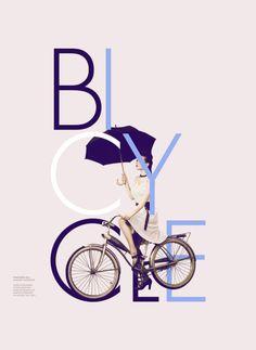 Interesting type treatment OK bike art type is too disjuncted,