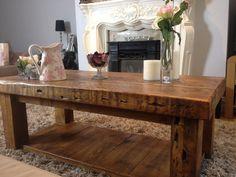 Moss Reclaimed Wood Coffee Table | Reclaimed Wood Furniture | Modish Living