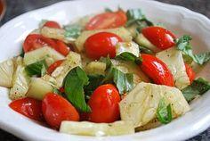 Tomato Cucumber & Basil salad, this just looks so refreshing