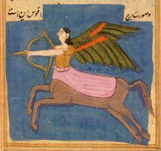 The Wonders of Creation, a 16th-century edition of a medieval cosmography by Persian scholar Zakariya al-Qazwini (1203–1283). Вся книга здесь .
