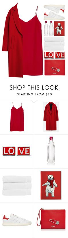 """""""TOPSET.WomanInRed."""" by mhurtiz ❤ liked on Polyvore featuring Alexia Ulibarri, Givenchy, Cookut, Christy, adidas Originals and Versus"""