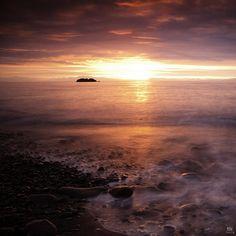 skagaströnd, iceland sunset