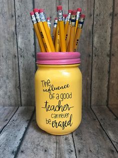 Teacher Pencil holder mason jar pint size 16 oz the