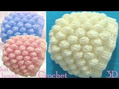 Crochet Beanie Hat with Snow Balls Stitch - Free Pattern [Video] Crochet Quilt, Crochet Squares, Crochet Stitches, Knit Crochet, Crochet Hooded Scarf, Crochet Beanie Hat, Beanie Hats, Crochet Ball, Easter Crochet