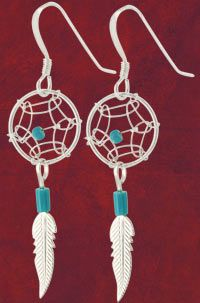 Dream+Catcher+Turquoise+&+Sterling+Earrings+at+The+Animal+Rescue+Site