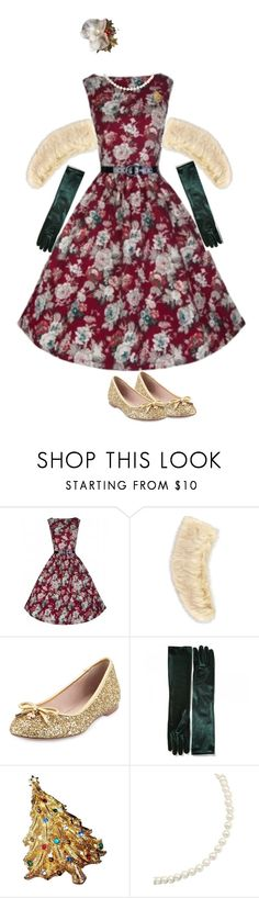 """vintage christmas party"" by singinlife on Polyvore featuring Forever 21, Kate Spade, Carolee and vintage"