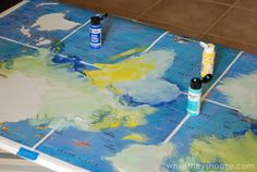 While They Snooze: DIY Map Table Tutorial